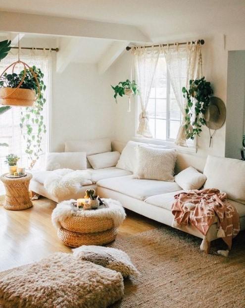 σαλόνι γωνιακός καναπές μαξιλάρες