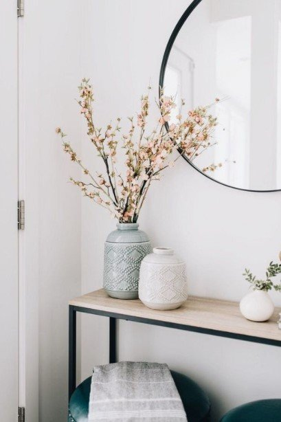 βάζο λουλούδια κονσόλα διακοσμήσεις λουλούδια