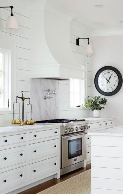 άσπρη κουζίνα ρολόι τοίχου