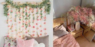 διακόσμηση υπνοδωματίου με λουλούδια