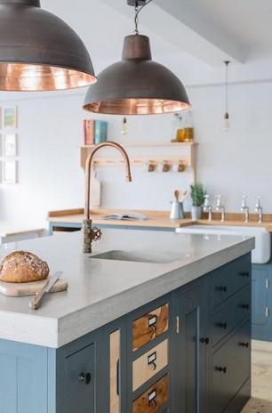 κουζινα 2021 γαλαζια γκρι