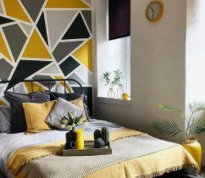 γεωμετρικοσ τοιχος κιτρινο γκρι μαυρο