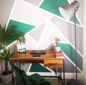 γεωμετρικοσ τοιχος γραφειο