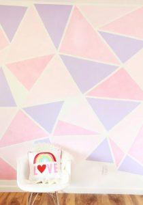 γεωμετρικοσ τοιχος παιδικο δωματιο