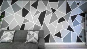 γεωμετρικοσ τοιχος σαλονι