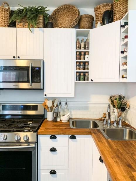 ψάθινα καλάθια κουζίνα