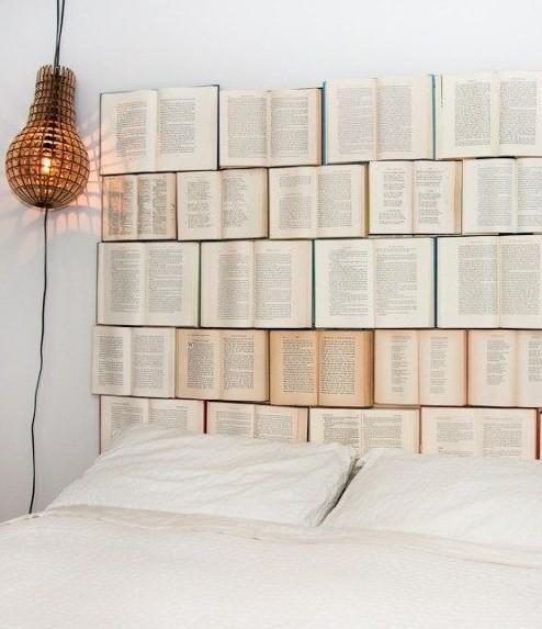 κεφαλάρι από βιβλία διακοσμήσεις βιβλία