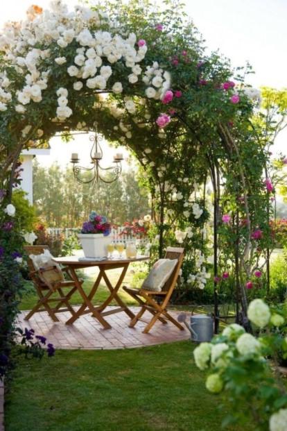 κιόσκι λουλούδια καρέκλα τραπέζι