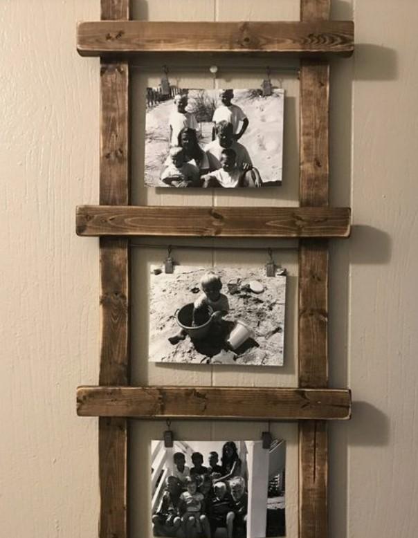 ξύλινη διακοσμητική σειρά για φωτογραφίες