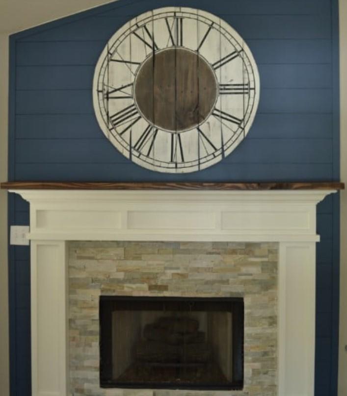 ξύλινο ρολόι διακοσμητικό τοίχου