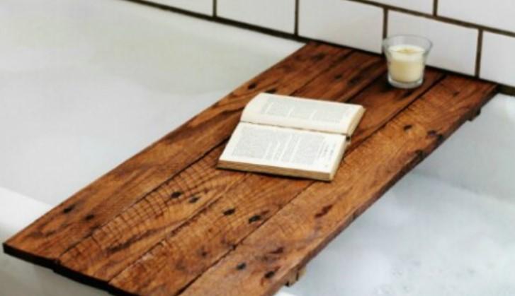 ξύλινη διακοσμητική βάση για μπανιέρα