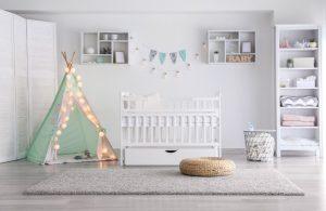 λευκο και βεραμαν παιδικο δωματιο