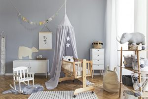 παιδικο δωματιο γκρι χρωμα