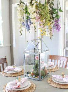 Τάσεις στην Πασχαλινή διακόσμηση με λουλουδια κρεμαστα