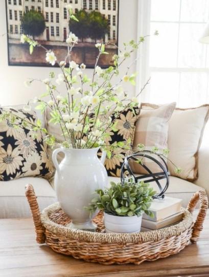 τραπέζι σαλονιού κλαδιά λουλούδια τραπέζι σαλονιού άνοιξη