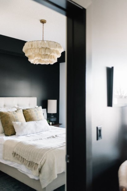 υπνοδωμάτιο άσπρο φωτιστικό