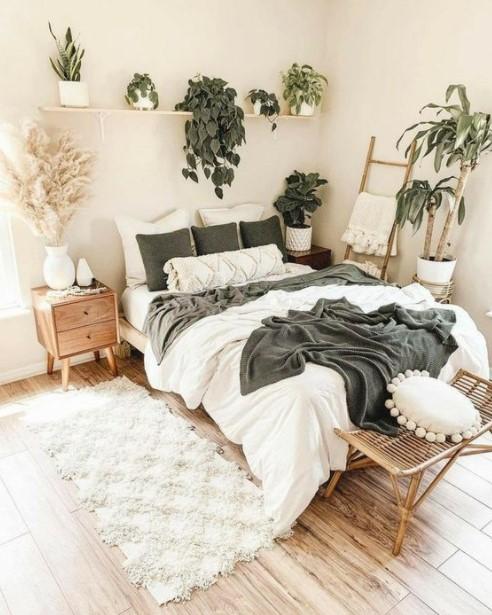 υπνοδωμάτιο κρεβάτι φυτά τάσεις υπνοδωμάτιο 2021