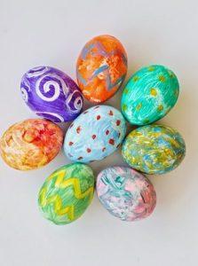 Πασχαλινα αυγα με τεμπερες