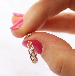 δαχτυλίδι με χάντρες και σύρμα