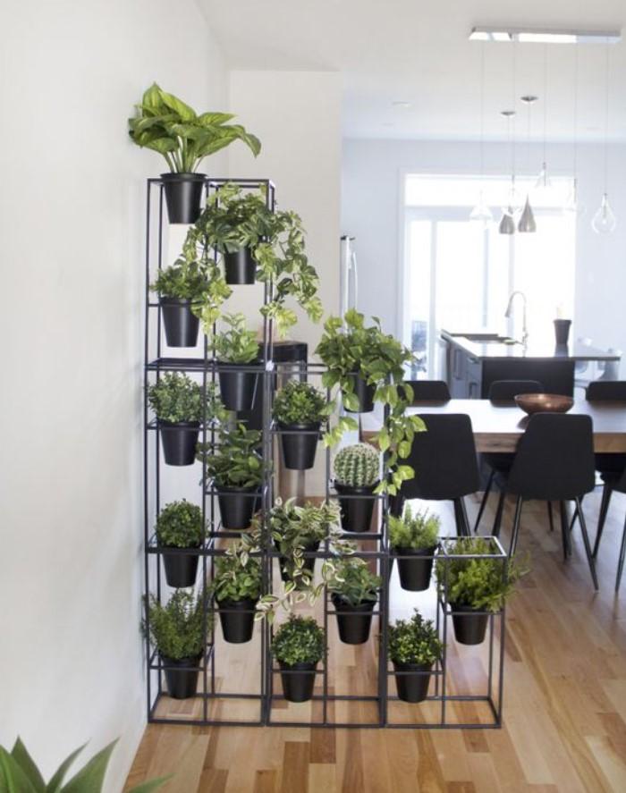 διαχωριστικό χώρου για φυτά