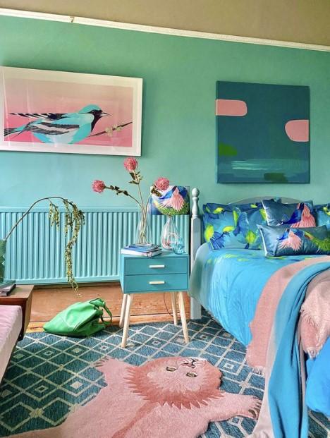 γαλάζιο υπνοδωμάτιο πίνακες