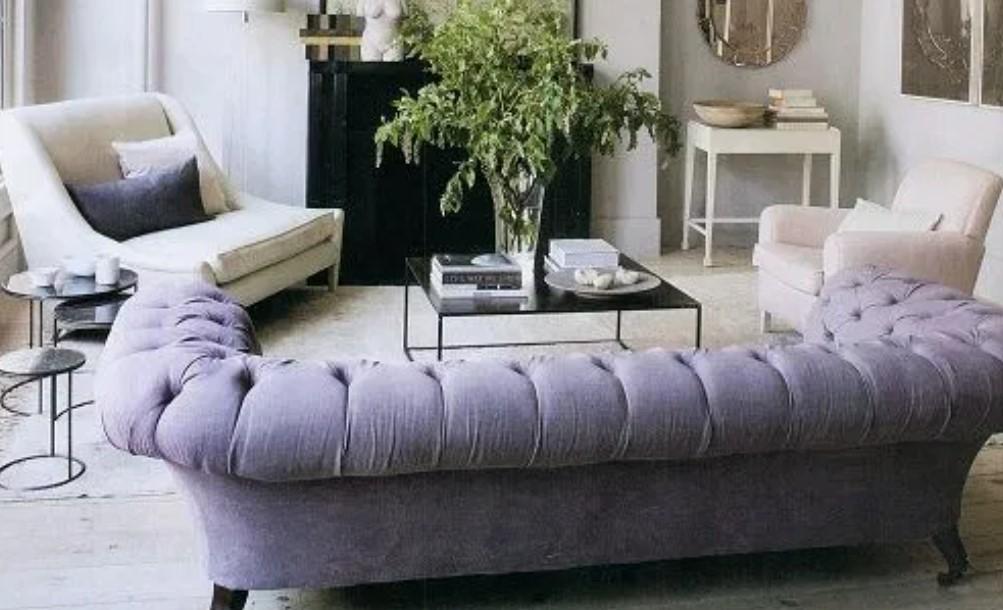 καναπές παστέλ διακόσμηση