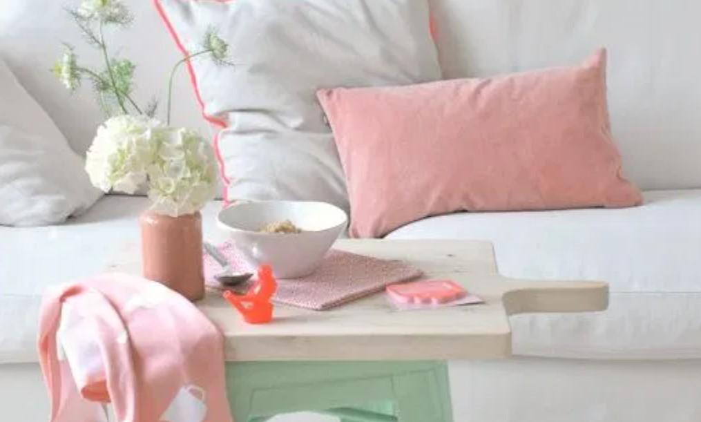 μαξιλάρια καναπέ ροζ