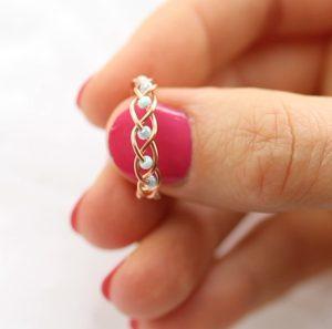 minimal diy δαχτυλίδι
