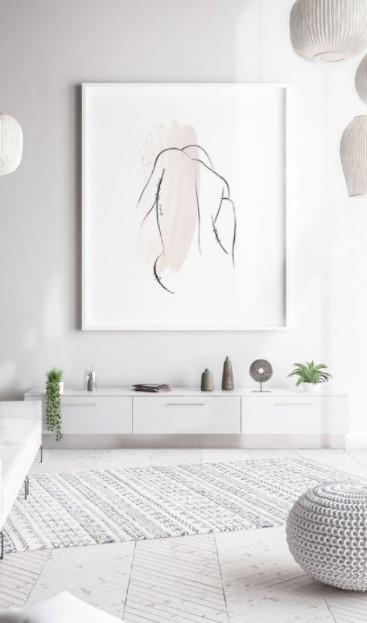 μινιμαλ πίνακας σαλόνι διακοσμήσεις κάδρα