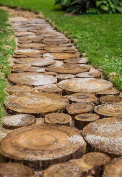 διάδρομος κορμός δέντρου διάδρομοι κήπο