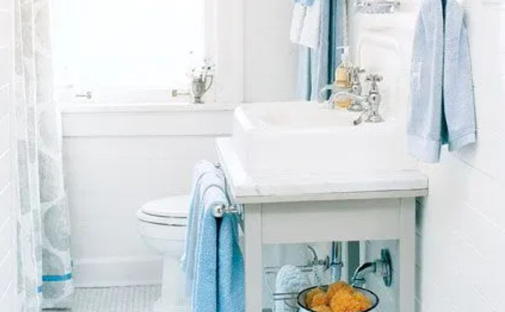γαλάζιες πετσέτες μπάνιου