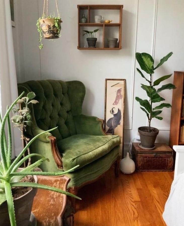 πράσινη πολυθρόνα