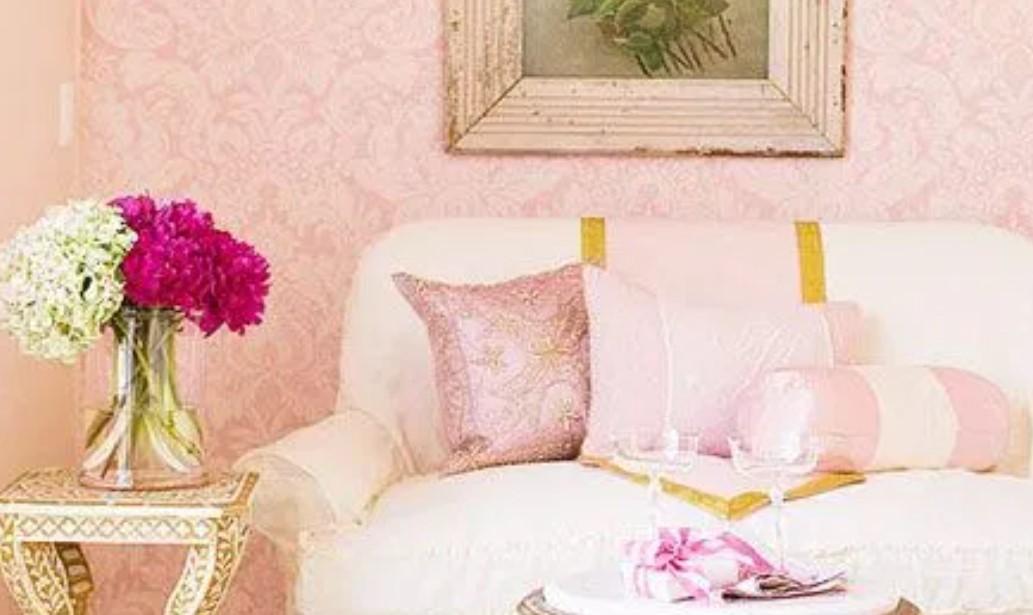 τοίχος ροζ παστέλ χρώματα διακόσμηση σπιτιού