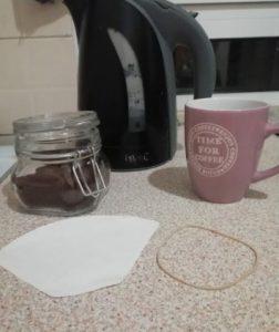 καφές φίλτρου χωρίς καφετιέρα υλικα