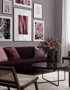 σαλόνι σε αποχρώσεις του μοβ