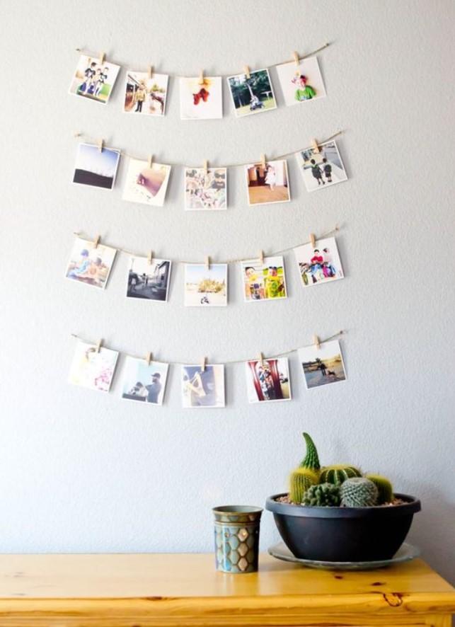 διακόσμηση τοίχου με φωτογραφίες