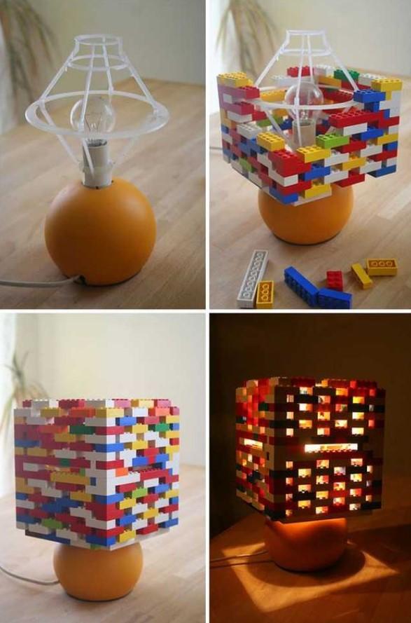 diy επιτραπέζιο φωτιστικό με lego