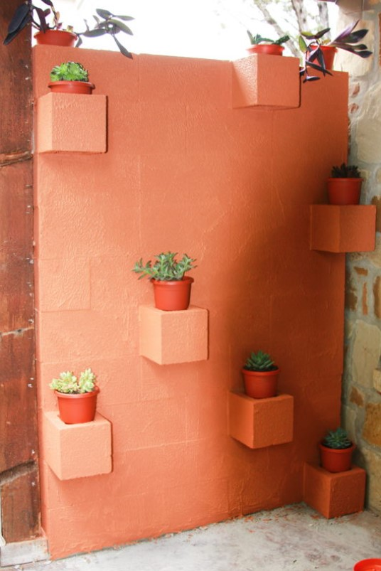 diy τοίχος από τσιμεντόλιθους