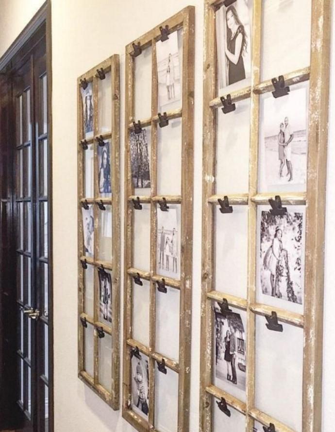 φωτογραφίες σε παλιά παράθυρα
