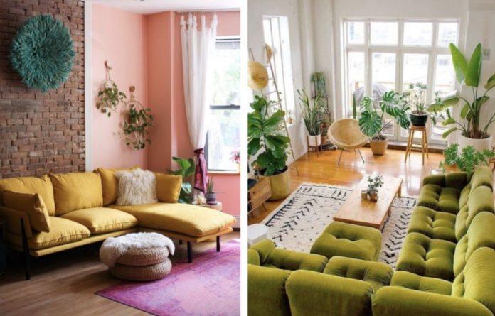 όμορφοι καναπέδες με χρώμα για το σαλόνι σου
