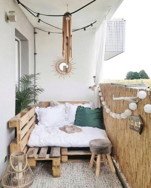 καναπές παλέτες βεράντα παλέτες μπαλκόνι