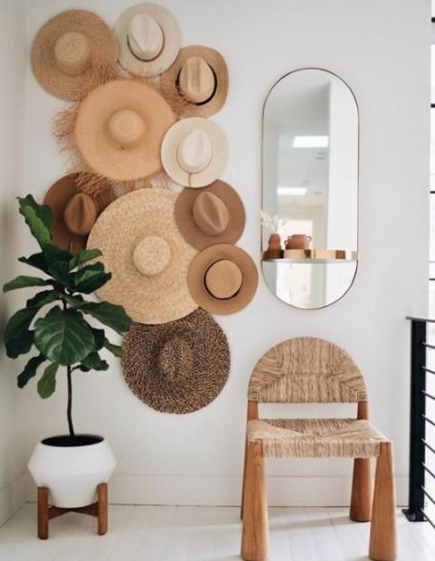 καπέλα καθρέπτης τοίχο καλοκαιρινό τοίχο