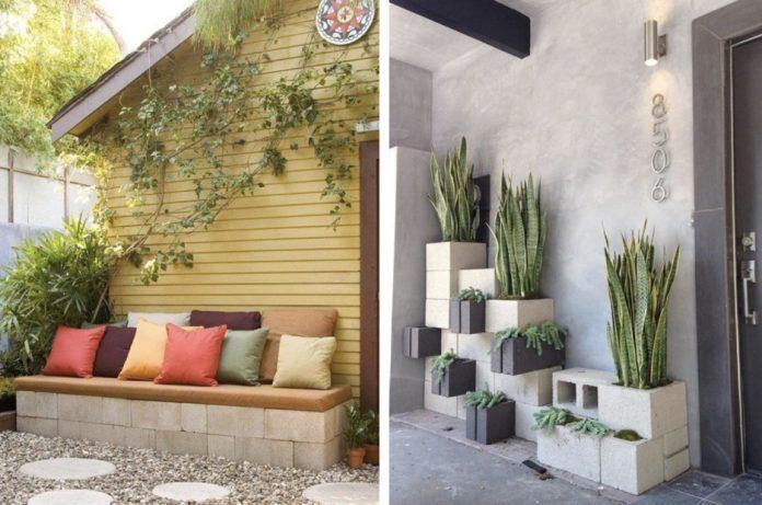 κατασκευές με τσιμεντόλιθους για το κήπο