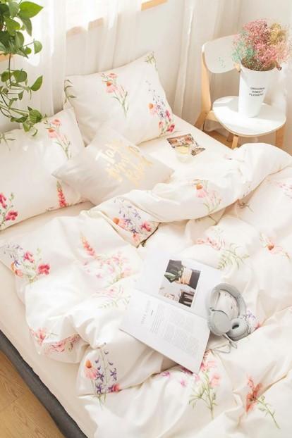 φλοράλ σεντόνια κρεβάτι