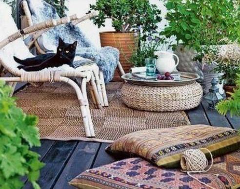 μαξιλάρες για να κάτσεις στο μπαλκόνι
