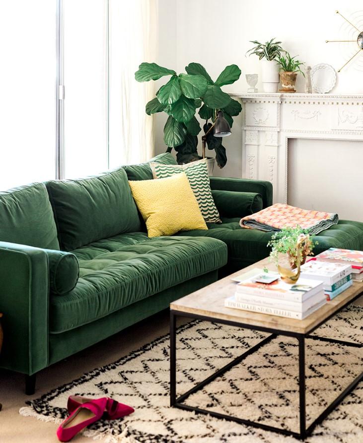 πράσινος καναπές