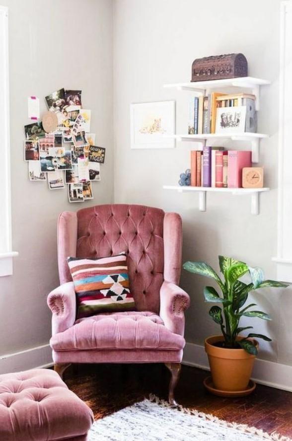 ροζ πολυθρόνα