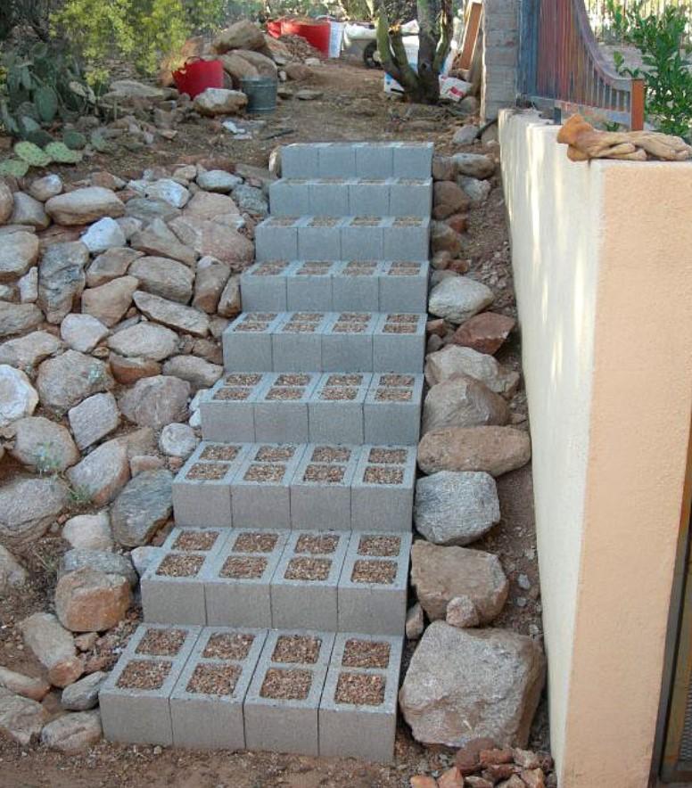 σκάλες εξωτερικού χώρου από τσιμεντόλιθους