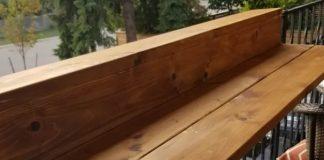 DIY τραπεζάκι μπαλκονιού για κάγκελα