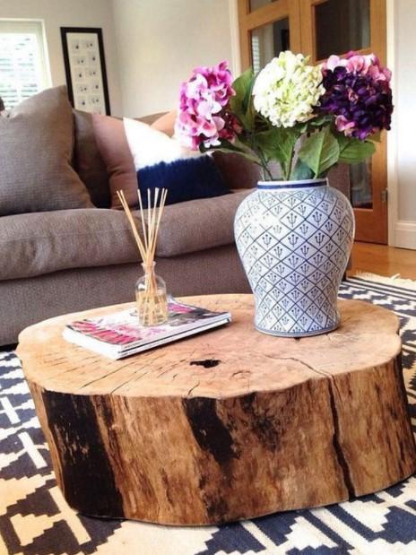 τραπέζι κορμό δέντρου